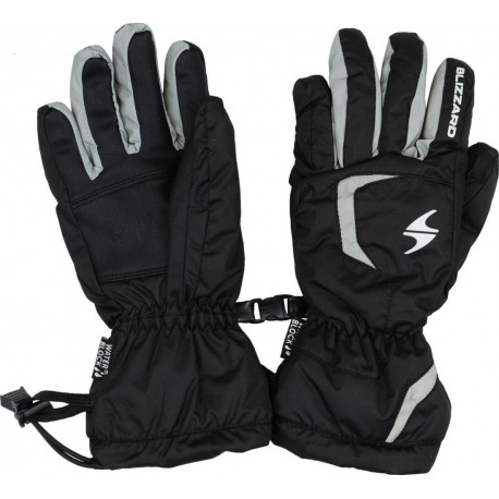Lyžiarske rukavice BLIZZARD Reflex junior ski gloves, black/silv