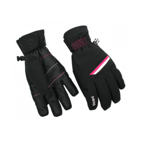 Lyžiarske rukavice BLIZZARD Reflex junior ski gloves, black/pink